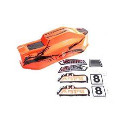 Absima 1230036 - Body orange Buggy Brushless - 1