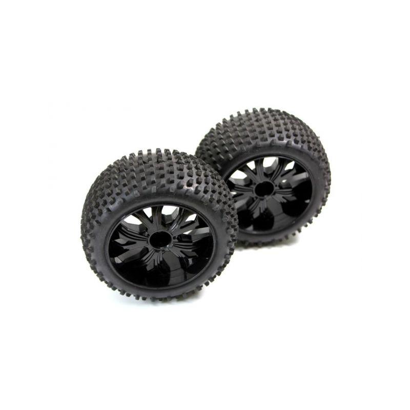 Absima 1230067 - Tire Set f/r (2) Truggys.) - 1