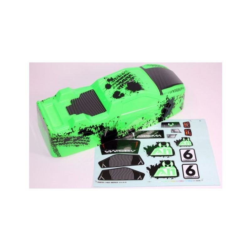 Absima 1230095 - Body green Truggy brushed - 1