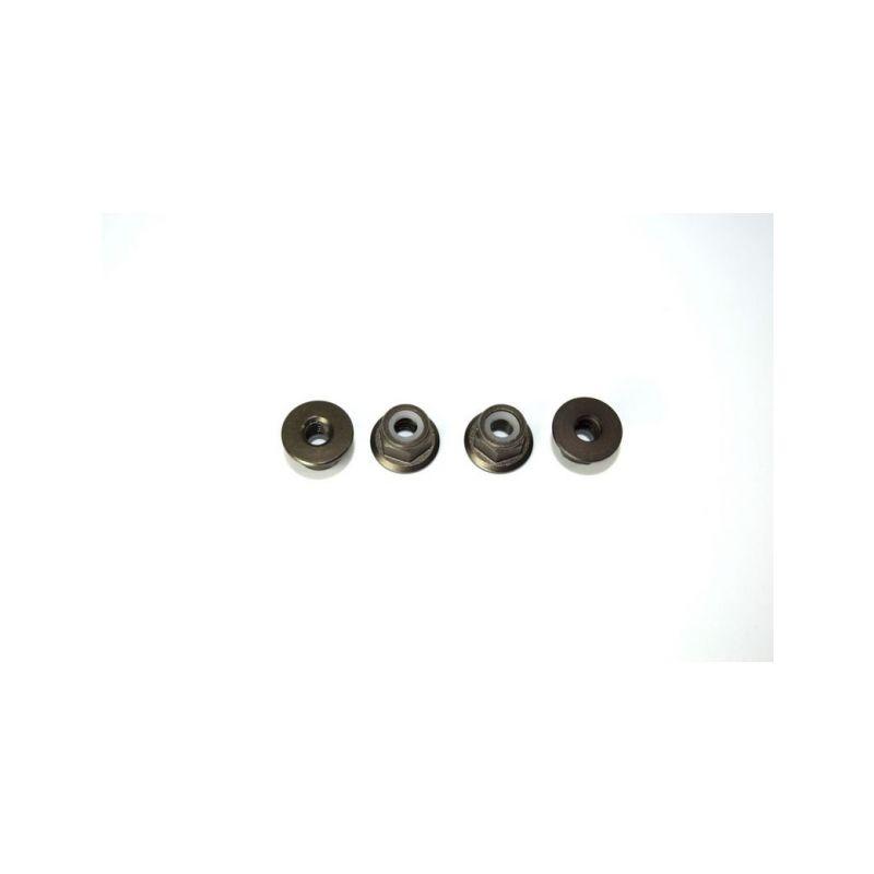 Absima 1230235 - Aluminum nylon nut M4 (4) ATC 2.4 RTR/BL - 1