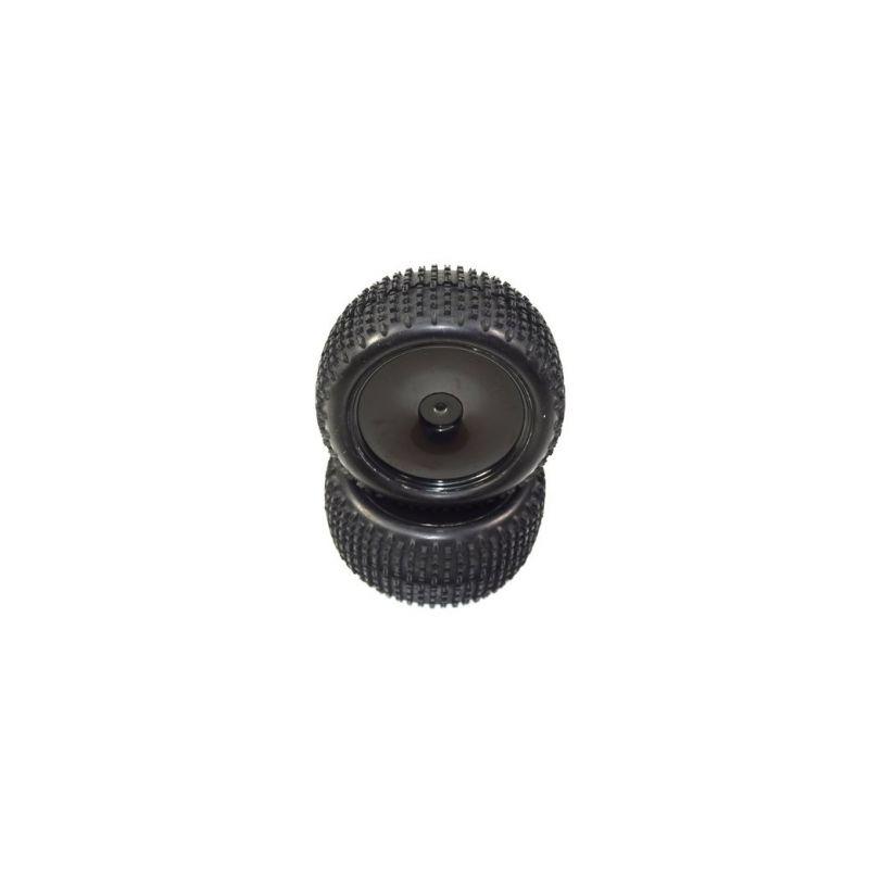 Absima 1230304 - Wheel Set glued rear (2) AB2.4 RTR/BL/KIT - 1