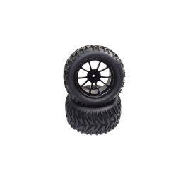 Absima 1230337 - Wheel Set glued (2) AMT2.4 RTR/BL - 1