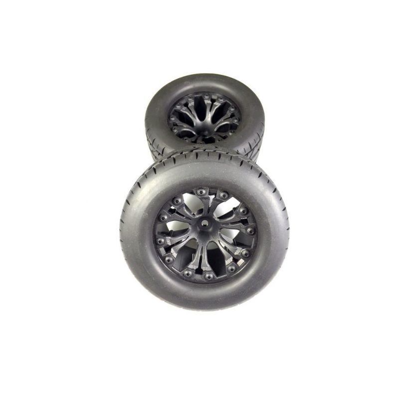 Sada silničních pneu Monster 1:10 včetně disků, 2ks - 1
