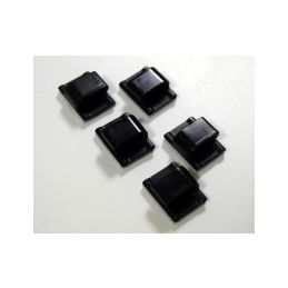 Samolepící příchytky na kabely, 5ks - 1