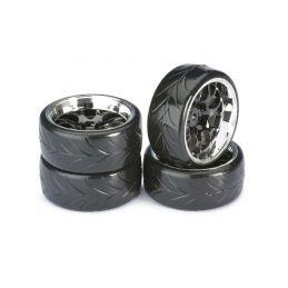 Driftové pneumatiky 1:10 včetně disků, 4ks - 1