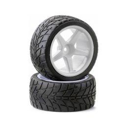 Silniční pneu Street pro buggy 1:10 včetně disků, 2ks - 1