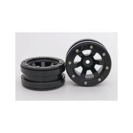 Kovové Beadlock CNC disky 1.9 PT Claw Black/Black, 2ks - 1