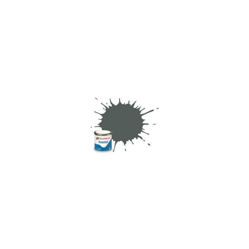 Humbrol emailová barva #1 šedá základní matná 14ml - 1