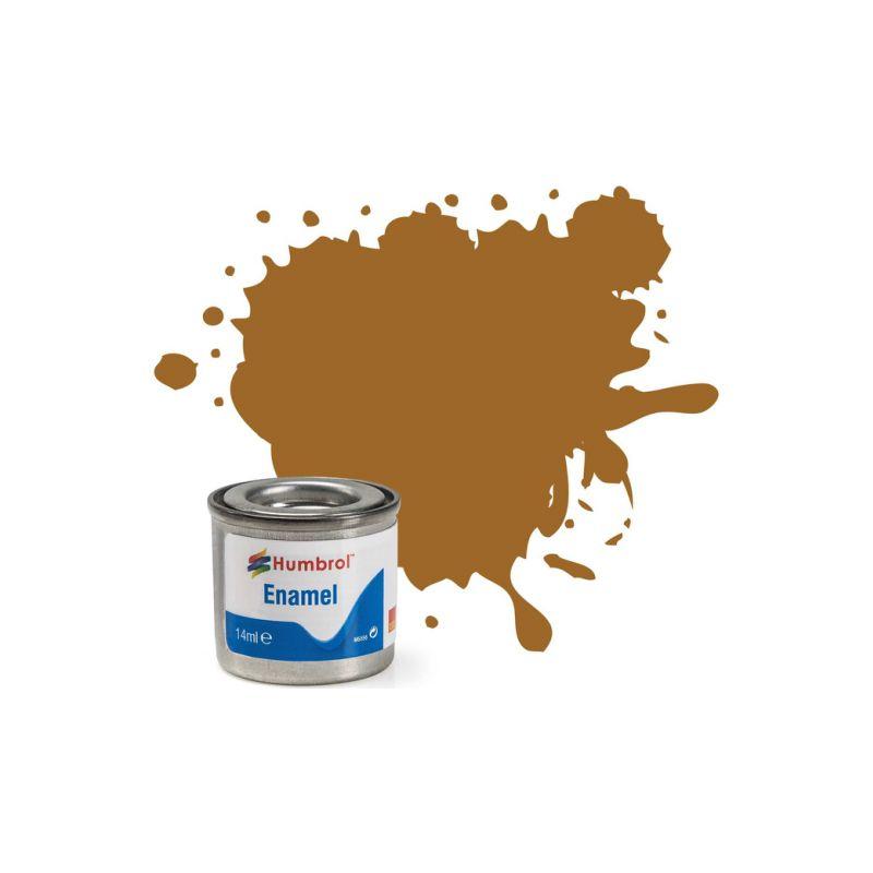 Humbrol emailová barva #234 tmavá okrová matná 14ml - 1