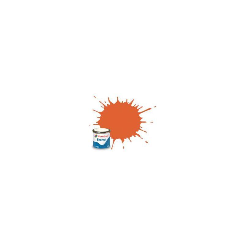 Humbrol emailová barva #82 signální oranžová matná 14ml - 1