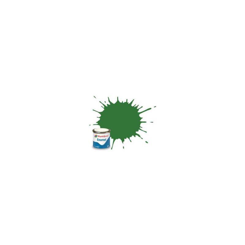 Humbrol emailová barva #131 střední zelená polomatná 14ml - 1