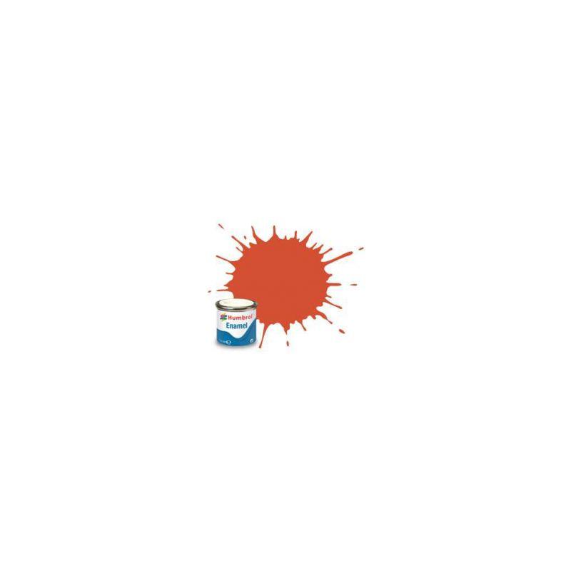 Humbrol emailová barva #132 červená polomatná 14ml - 1
