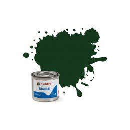 Humbrol emailová barva #195 tmavě zelená polomatná 14ml - 1