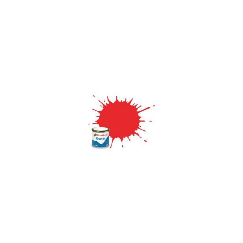 Humbrol emailová barva #209 fluorescentní signální oranžová lesklá 14ml - 1