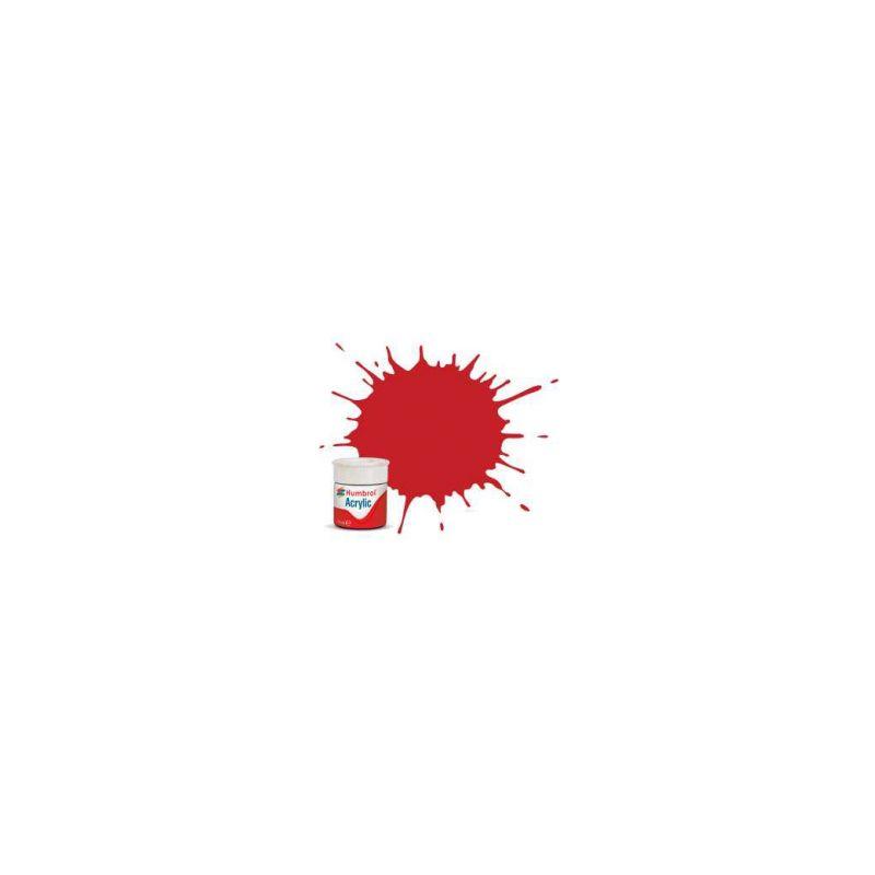 Humbrol akrylová barva #220 závodní červená lesklá 12ml - 1