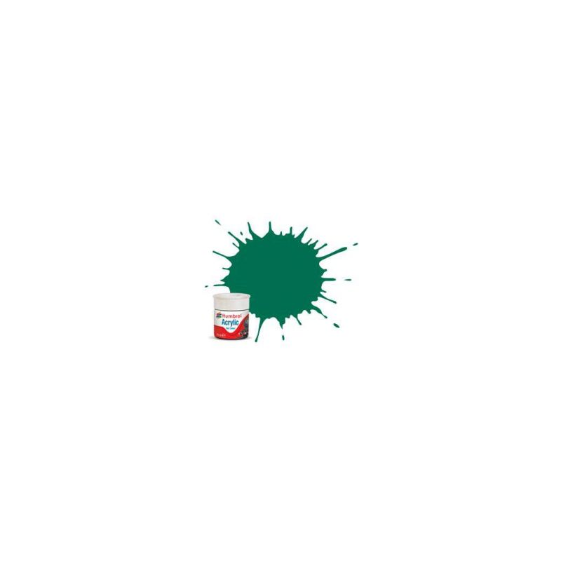 Humbrol akrylová barva #RC409 Malachite zelená matná 14ml - 1