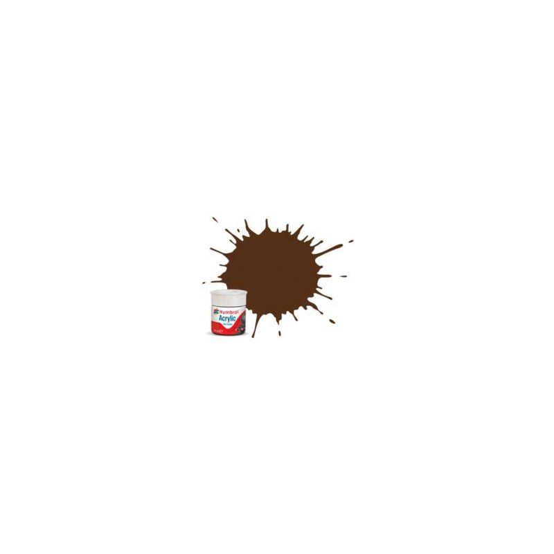 Humbrol akrylová barva #RC415 Pullman Umber hnědá matná 14ml - 1