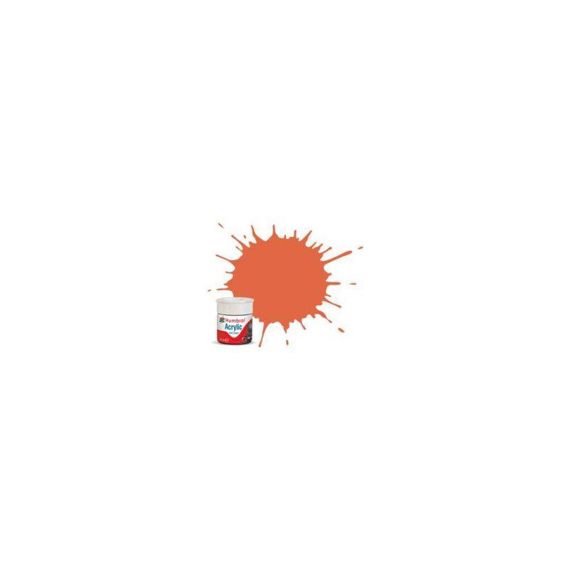 Humbrol akrylová barva #RC420 oranžová Lining matná 14ml - 1