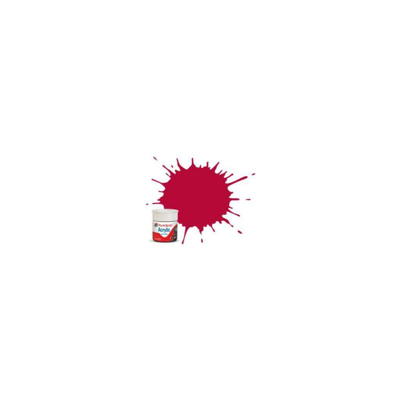 Humbrol akrylová barva #RC423 karmínově červená matná 14ml - 1