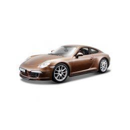 Bburago Plus Porsche 911 Carrera S 1:24 hnědá - 1