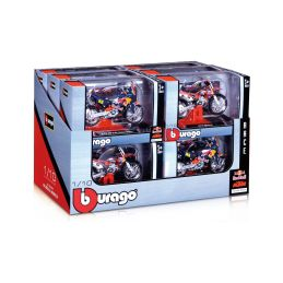 Bburago motocykly Red Bull KTM 1:18 (sada 12ks) - 1