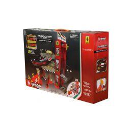 Bburago Ferrari dráha s výtahem a automyčkou - 1