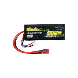Black Magic LiPol Car 7.4V 2200mAh 30C Deans - 1