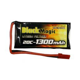 Black Magic LiPol 3.7V 1300mAh 20C JST - 1