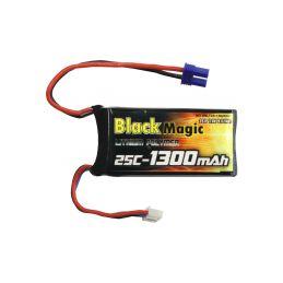 Black Magic LiPol 7.4V 1300mAh 25C EC2 - 1