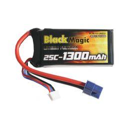 Black Magic LiPol 11.1V 1300mAh 25C EC3 - 1