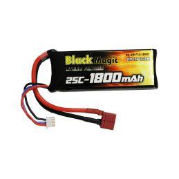 Black Magic LiPol 7.4V 1800mAh 25C Deans - 1