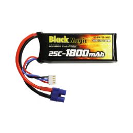 Black Magic LiPol 11.1V 1800mAh 25C EC3 - 1