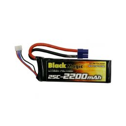 Black Magic LiPol 11.1V 2200mAh 25C EC3 - 1