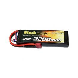 Black Magic LiPol 11.1V 3200mAh 25C Deans - 1