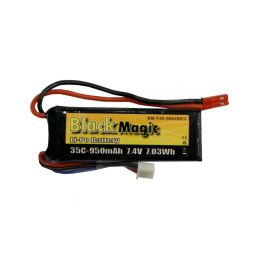 Black Magic LiPol 7.4V 950mAh 35C JST - 1