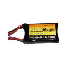Black Magic LiPol 7.4V 450mAh 50C JST - 1