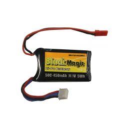 Black Magic LiPol 11.1V 450mAh 50C JST - 1