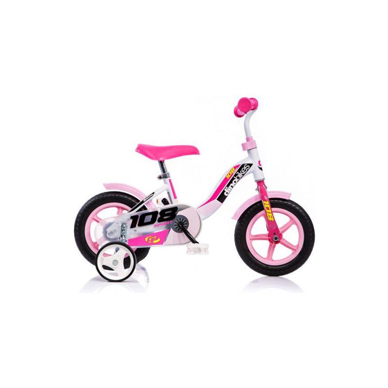 "DINO Bikes - Dětské kolo 10"" růžové - 1"