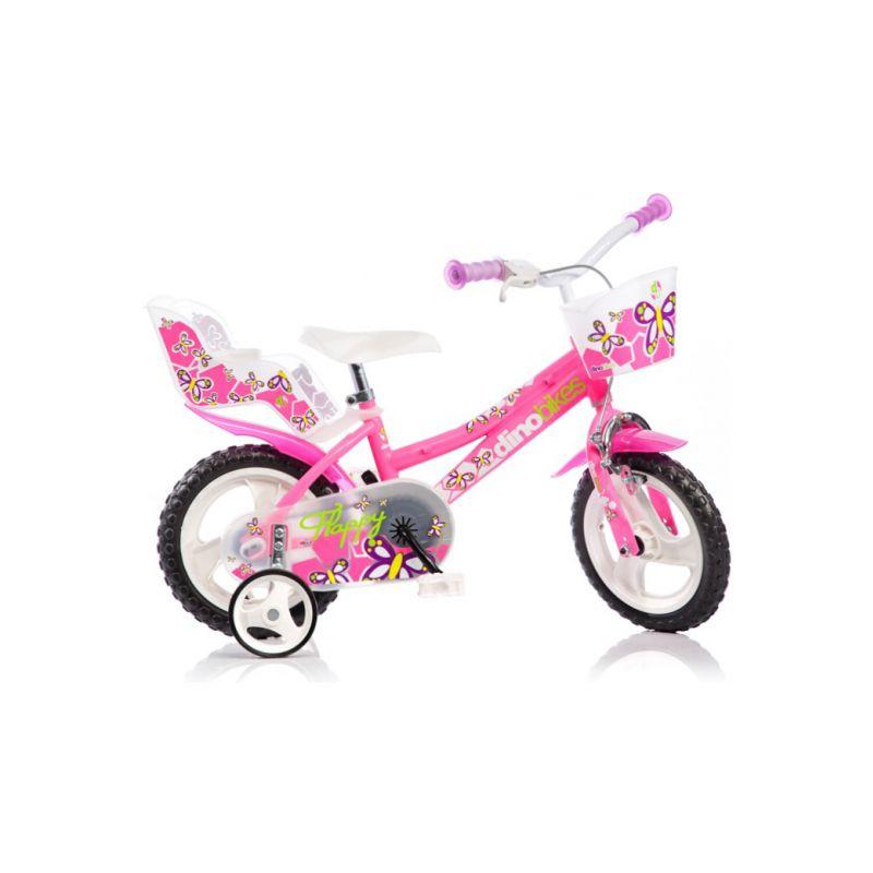 "DINO Bikes - Dětské kolo 12"" růžové - 1"