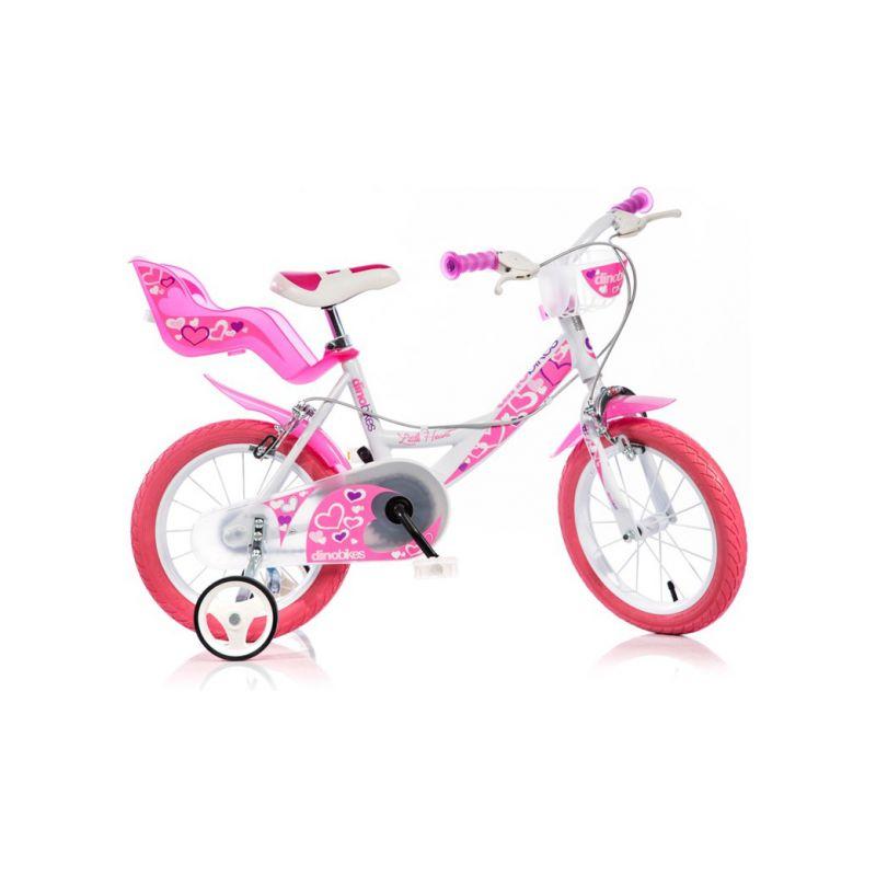 """DINO Bikes - Dětské kolo 14"""" bílé - 1"""