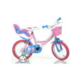 """DINO Bikes - Dětské kolo 14"""" Pepa Pig se sedačkou a košíkem - 1"""