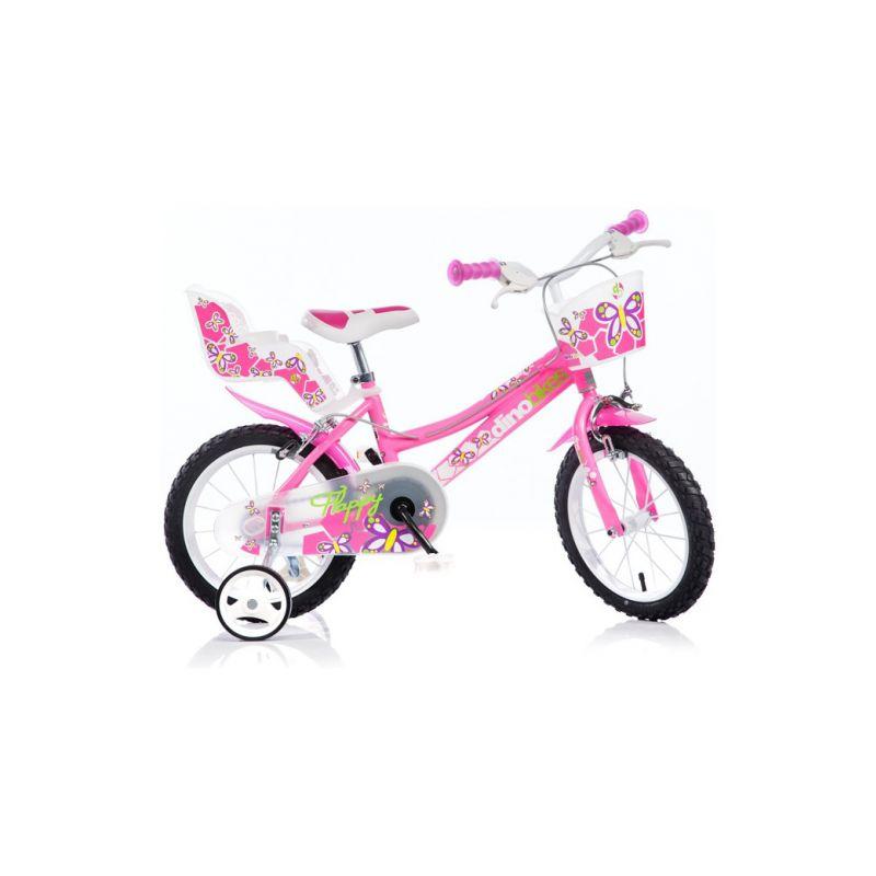 "DINO Bikes - Dětské kolo 14"" růžové - 1"