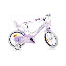 """DINO Bikes - Dětské kolo 16"""" bílé - 1"""