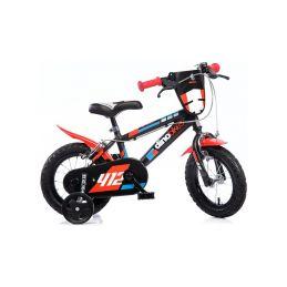 "DINO Bikes - Dětské kolo 12"" černo-červené - 1"