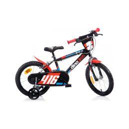 "DINO Bikes - Dětské kolo 16"" černo-červené - 1"