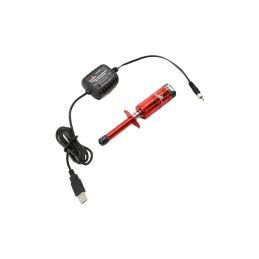 Žhavící koncovka NiMH s měřidlem s USB nabíječem - 1