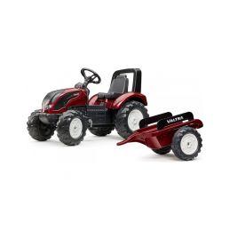 FALK - Šlapací traktor Valtra S4 s vlečkou - 1