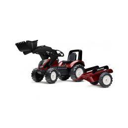FALK - Šlapací traktor Valtra S4 s nakladačem a vlečkou - 1