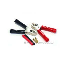 Krokosvorky se zlacenými konektory 4mm (pár) - 1