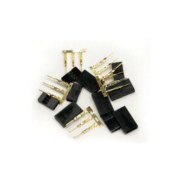 Servo konektor Futaba samice zlacený (5ks) - 1